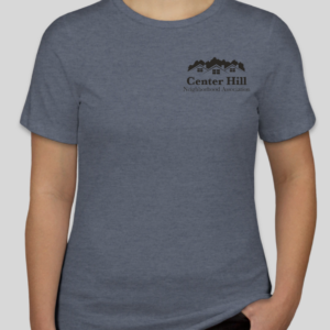 Women in Center Hill Neighborhood Association blue T-Shirt