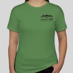 Women in Center Hill Neighborhood Association blue T-Shirt
