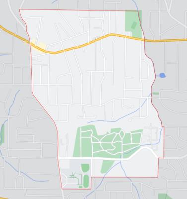 Center Hill Neighborhood Boundry Map